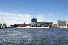 Costruzione DOKK1 a Aarhus, Danimarca Fotografie Stock