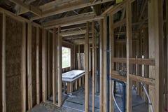 Costruzione domestica della stanza da bagno Fotografia Stock