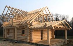 Costruzione domestica di legno Immagini Stock Libere da Diritti
