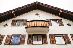 Costruzione domestica di rinascita a Oberstdorf, Germania Immagini Stock Libere da Diritti
