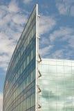 Costruzione e cielo di vetro Fotografia Stock