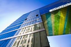 Costruzione e cielo di vetro moderni Fotografie Stock Libere da Diritti