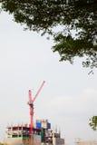 Costruzione e gru a torre Fotografia Stock Libera da Diritti