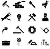 Costruzione e riparazione delle icone Fotografia Stock