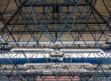 Costruzione e ventilazione del metallo del soffitto Fotografia Stock