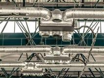 Costruzione e ventilazione del metallo del soffitto Fotografie Stock