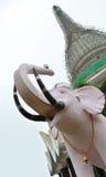Costruzione ed elefante del tempio Fotografia Stock