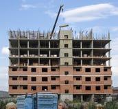 Costruzione esclusivamente individuata in costruzione Immagine Stock
