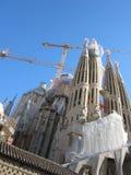 Costruzione famosa della chiesa della costruzione di Barcellona fotografie stock