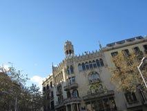 Costruzione famosa di Barcellona fotografie stock libere da diritti