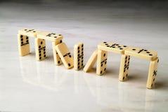 Costruzione fatta con i domino Immagini Stock