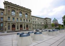 Costruzione federale svizzera dell'istituto di tecnologia a Zurigo Immagini Stock