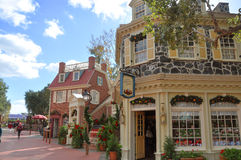 Costruzione federale variopinta in mondo Orlando del Disney Fotografia Stock Libera da Diritti
