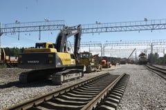 Costruzione ferroviaria Fotografie Stock