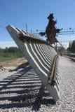 Costruzione ferroviaria Immagini Stock Libere da Diritti