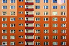 Costruzione fiamma-colorata verniciata Fotografia Stock Libera da Diritti