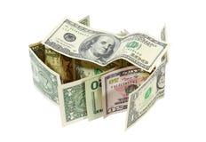 Costruzione finanziaria Fotografia Stock Libera da Diritti