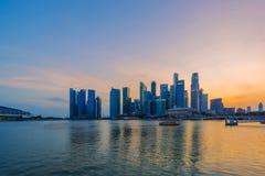 Costruzione finanziaria di paesaggio urbano di Singapore fotografia stock libera da diritti