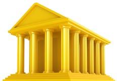 Costruzione finanziaria dorata Fotografia Stock