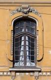 Costruzione francese con la finestra grattata Immagini Stock Libere da Diritti