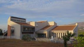 Costruzione futuristica vicino a Alora, Andalusia Fotografia Stock