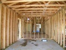 Costruzione - garage incorniciato Fotografia Stock