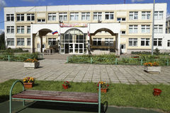 Costruzione generica della scuola secondaria Fotografia Stock Libera da Diritti