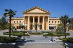Costruzione greca del sanatorio di stile Fotografia Stock