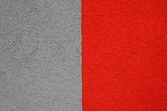 costruzione grigio-rossa del gesso, struttura Fotografie Stock Libere da Diritti