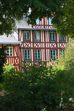 Costruzione Half-timbered a Rouen, Francia Fotografie Stock Libere da Diritti