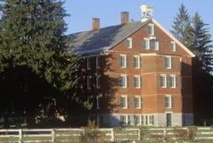 Costruzione in Hancock Shaker Village, colline di Berkshire, Pittsfield, mA Immagini Stock Libere da Diritti