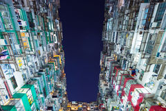 Costruzione imballata in Hong Kong Fotografia Stock