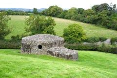 Costruzione impilata della roccia al sito neolitico immagine stock libera da diritti