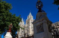 Costruzione impressionante del museo di storia naturale a Londra, Inghilterra immagine stock libera da diritti