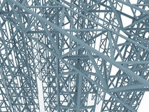 Costruzione industriale 3d Fotografia Stock Libera da Diritti