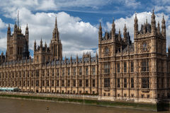 Costruzione Inghilterra del Parlamento Immagine Stock Libera da Diritti