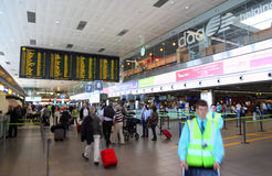 Costruzione interna dell'aeroporto Fotografia Stock