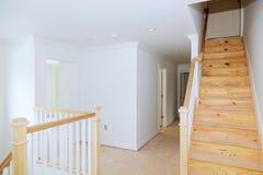 Costruzione interna della stanza dell'alloggio in costruzione Fotografia Stock