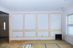 Costruzione interna della stanza dell'alloggio in costruzione Fotografie Stock