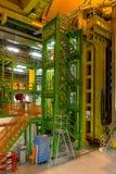 Costruzione interna nel CERN Fotografia Stock