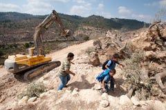 Costruzione israeliana della barriera di separazione Fotografia Stock Libera da Diritti
