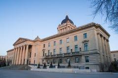 Costruzione legislativa di Manitoba Immagini Stock