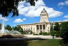 Costruzione legislativa di Manitoba Immagine Stock