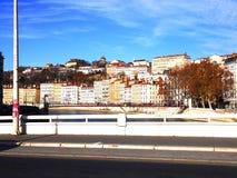 Costruzione lungo il fiume Saone, Lione, Francia Immagini Stock Libere da Diritti