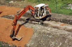 Costruzione Machi del trattore a cingoli Fotografia Stock Libera da Diritti