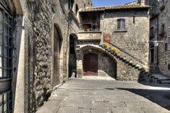 Costruzione medievale di Viterbo Fotografie Stock