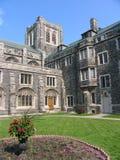 Costruzione medioevale dell'istituto universitario di stile Fotografie Stock Libere da Diritti