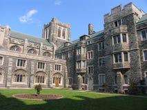 Costruzione medioevale dell'istituto universitario di stile Fotografia Stock