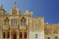 Costruzione medioevale di Malta Fotografie Stock