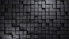 Costruzione metallica fatta del fondo spostato dei cubi Fotografia Stock Libera da Diritti